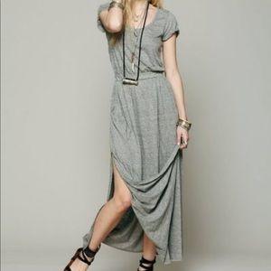 Women's Gray Audrina Maxi Dress. Like new.